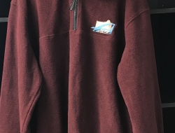 CLEARANCE Burgundy Pullover w/Embroidery XL