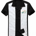 Bowling Shirt - Black and White Size MEDIUM