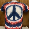 Red White Blue Peace Sign Small