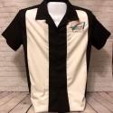 Bowling Shirt - Black and White Size MEDIUM