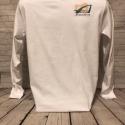 White Long Sleeve T size Medium Design #2