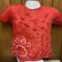 Red with Dog Paw Youth Medium